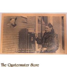 Prent briefkaart mobilisatie 1939 Verpand klant