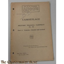Pamphlet No 11A Vol I Camouflage of verhicles