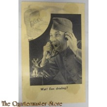 Prent briefkaart mobilisatie 1939 Wat een Drieling?
