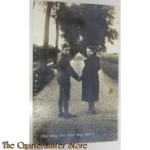 Prent briefkaart mobilisatie 1939 hoe lang de weg