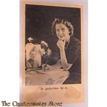 Prent briefkaart mobilisatie 1939 In gedachten bij je