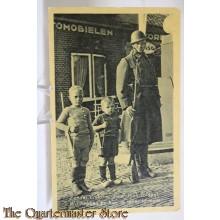 Prent briefkaart mobilisatie 1940 Zonder uniform maar toch soldaat Wij hebben ze hier in ieder formaat
