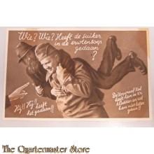 Prent briefkaart mobilisatie 1939 Suiker erwtensoep