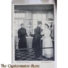 Prent briefkaart mobilisatie 1914 Gesnapt dor mevrouw