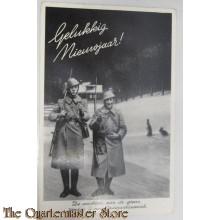 Prent briefkaart mobilisatie 1939 Grens Wensch