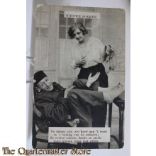 Prent briefkaart 1940 mobilisatie nieuwe sokken