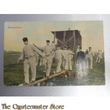 Prent briefkaart mobilisatie 1914 Hindernisbaan