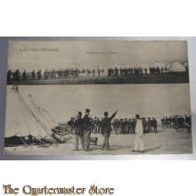 Prent briefkaart mobilisatie 1914 Harskamp troepen