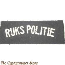 Straatnaam Rijks Politie Brabants weefsel (Police shouldertitle 1945-46)