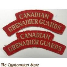 Shoulder flashes Canadian Grenadier Guards (CGG),  4th Armoured Brigade, 4th Canadian Armoured Division
