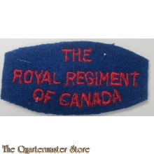 Shoulder title The Royal Regiment of Canada,  2nd canadian Infantry Division