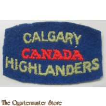 Shoulder title Calgary Highlanders of Canada, , 2nd Canadian Infantry Division