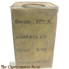 Military ration Bisquits 27 lbs N dated 8/43