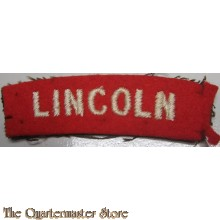 Shoulder title Lincoln (Royal Lincolnshire Regiment)