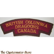 Shoulder title British Columbia Dragoons Canada , 3rd Canadian Division