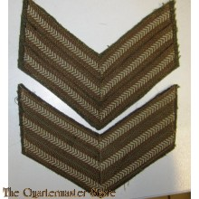 WW2 pair of sergeant stripes