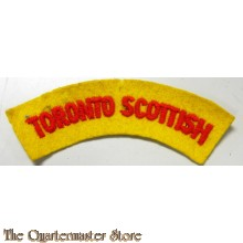 Shoulder title Toronto Scottish 4 Canadian Division