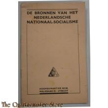 Boekje de bronnen van het Nederlandsche Nationaal Socialisme