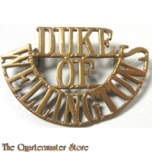 Shoulder title brass Duke of Wellington's Regiment