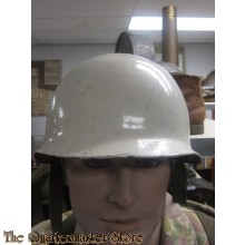 In 1958 a new helmet was designed and put into production this was the M60 (Model FJ58) my example has the first pattern liner....these were the BW's first proper steel helmet (notice the M31 style liner) being made from Swedish steel that was a lot tough
