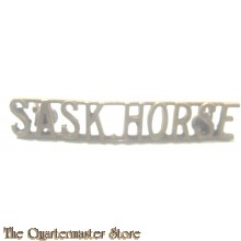 Shoulder title brass 16th/22nd Saskatchewan Horse