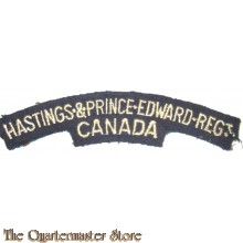 Shoulder title Hastings & Prince Edwards Rgt Canada 1st Canadian Division
