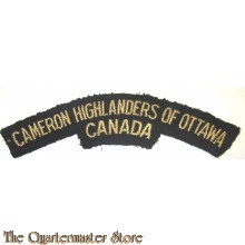Shoulder title Camron Highlanders of Ottawa