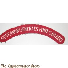 shoulder title Govenor General's foot Guards