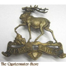 Cap badge Herts Cadets