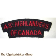Shoulder title 48th Higlanders of Canada 1st canadian Division