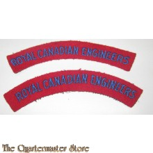 Shoulder titles Royal Canadian Engineers
