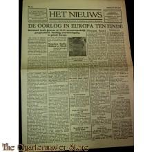 Het nieuws dinsdag 6 mei 1945