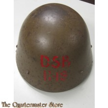 Czech M34 Helmet re-issued by the Germans to WW2 Danish Railway workers