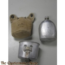 Cover M1910 with canteen and cup (Veldfles met mok en hoes M1910)