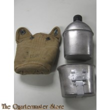 Cover M36 with canteen and cup M1936 (Veldfles met mok en hoes M1936)