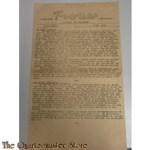 Krant Trouw 1 mei 1945 nieuwe uitgave