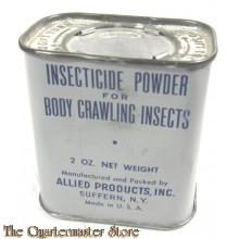 Tin Insect icide powder for body crawling insects WW2