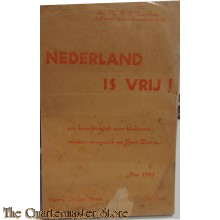 Book music/song/text 1945 Nederland is Vrij !