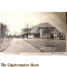 Prent briefkaart 1940 mobilisatie Legerplaats Oldebroek Ond-off paviljoen