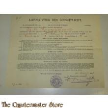 Loting voor den dienstplicht waddinxveen 16 aug 1923