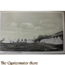Prent briefkaart mobilisatie 1940 Legerplaats bij Oldebroek (tentenkamp)