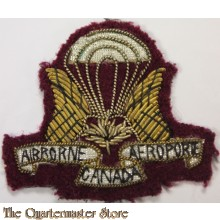 Canadian Airborne Regiment CAR Officer Bullion Cloth Cap Badge
