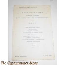Uitnodiging Feestmaaltijd 50 jarig bestaan Kon Mil Sportvereniging 25 april 1936