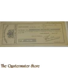 Bewijs van betaling contributie 1938 Ned Militaire Bond