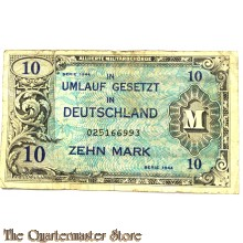 Invasion money 10 Mark 1944