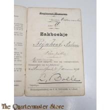 Oorlogszakboekje Reg Huzaren Eskadron Anthonie Rijnhout