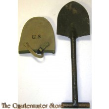 U.S. M1910 T Shovel with canvas carrier