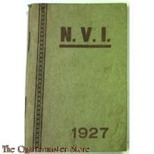 Aantekenboekje Nat Verbond van Verminkte en Invalide soldaten van den Oorlog 1927