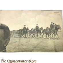 Prent briefkaart 1914 mobilisatie Artillerie