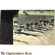 Prent briefkaart 1914 Mobilisatie Infanterie
